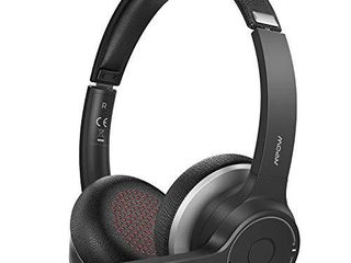 Mpow Bluetooth Headset 5 0 with Dual Microphone  Wireless PC Headphones  CVC 8 0 Noise Canceling  On Ear for Computer  Cell Phone  Call Center  Skype  22 Hours Talk Time  Soft Earpad  Wired Optional