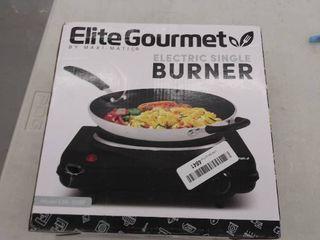 Elite Cuisine   1000W Electric Buffet Burner   Black
