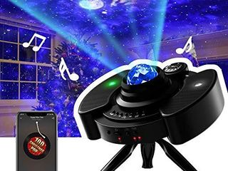 Star Projector  Night light Galaxy Projector lED lamp with Bluetooth Music Speaker Nightlight with Brightness Adjustment   360 ATripod for Kids Bedroom Decor  Home Theater  Game Rooms or Party