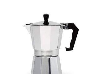 Primula Aluminum Espresso Maker   Aluminum   For Bold  Full Body Espresso   Easy to Use   Makes 6 Cups  PES 3306
