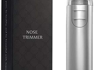 Nose Hair Trimmer  Anjou Ear Hair Trimmer with light Battery Operated Stainless Steel Dual Edge Blades Facial Hair Groomer  Detachable Head and Washable Design