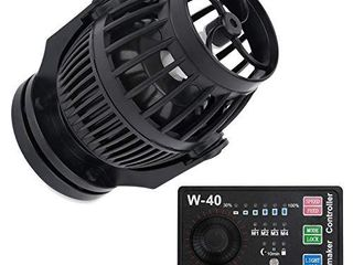 Uniclife 3400 GPH Controllable Wavemaker with W 40 Controller and Magnet Mount for Marine Freshwater Aquarium Circulation Pond