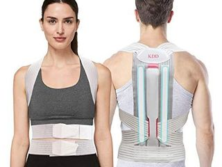 Posture Corrector for Women  Men   Replaceable Support Bars Design   KDD Adjustable Upper lower Back Brace For Clavicle Support  Providing Pain Relief From Neck  Back and Shoulder l