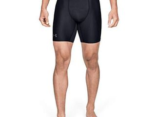 Under Armour Men s HeatGear Armour 2 0 6 inch Compression Shorts   Black  001 Graphite   Medium