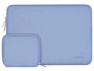 MOSISO laptop Sleeve Compatible with MacBook Pro 15 inch Touch Bar A1990 A1707  Dell XPS 15 ThinkPad X1 Yoga  1 4th Gen Surface laptop 3 15 Water Repellent Neoprene Bag with Small Case  Serenity Blue