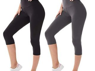 leggings for Women Butt lift Capri High Waisted Tummy Control Buttery Soft Yoga Pants for Running Workout