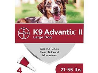 K9 Advantix II Flea and Tick Prevention for large Dogs 4 Pack  21 55 Pounds