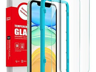 SmartDevil for iPhone 11  iPhone XR Screen Protector   3D Full Coverage     9H Hardness     Easy Installation Kit   0 33mm Premium Tempered Glass Film Compatible with iPhone 11 XR  6 1 inch 2 Pack  NOT INSPECTED