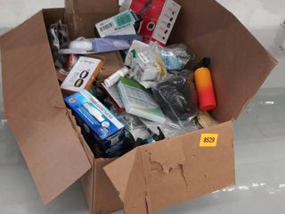 box of miscellaneous items