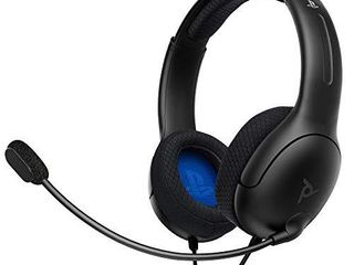 PDP Gaming lVl40 Wired Stereo Headset With Noise Cancelling Microphone  Black   PS4