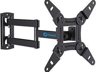 Full Motion TV Monitor Wall Mount Bracket Articulating Arms Swivels Tilts Extension Rotation for Most 13 42 Inch lED lCD Flat Curved Screen TVs   Monitors  Max VESA 200x200mm up to 44lbs by Pipishell