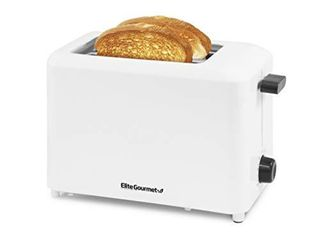 Elite Gourmet ECT 1027 Cool Touch Toaster with 7 Temperature Settings   Extra Wide 1 5  Slots for Bagels  Waffles  Specialty Breads  Puff Pastry  Snacks  Ul Certified  2 Slices  White