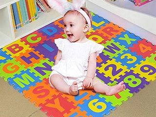 Foam Play Mats for Toddlers ABC Floor Puzzle Non Toxic 36 Tiles 3 6 Years Kids