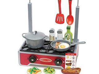 Melissa   Doug Deluxe Wooden Cooktop Set