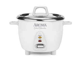 Aroma Housewares Select Stainless Rice Cooker   Warmer with Uncoated Inner Pot  6 Cup cooked    1 2Qt  ARC 753SG