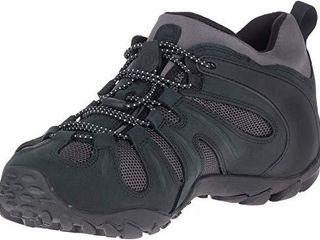 Merrell Men s Chameleon 8 Stretch Waterproof Hiking Shoe  Black Grey  9