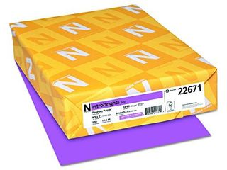 Neenah Astrobrights Premium Color Paper  24 lb  8 5 x 11 Inches  500 Sheets  Planetary Purple  22671