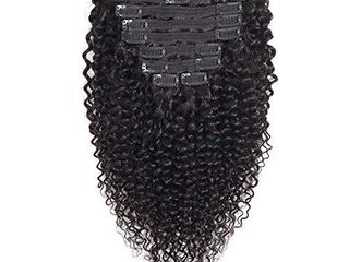 VTAOZI Curly Clip in Hair Extensions Human Hair for Black Women 8A Brazilian 3C 4A Kinky Curly Real Hair Extensions Clip in Human Hair Natural Color 10Pcs 120G Set  14 Inch