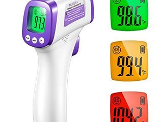 Infrared Thermometer for Adults  Non Contact Forehead Thermometer with Fever Alarm  Accurate Reading and Memory Function  Children  Kids and The Elderly   Surface of Objects Use