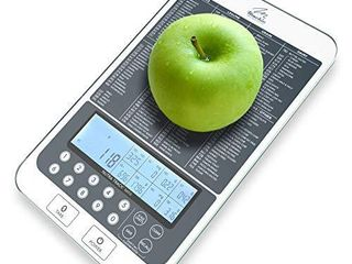 Mackie Food Scale  Digital Kitchen Scale Nutrition Portions Easy Automatic Calorie and Macro Nutrition Calculator an American Co a