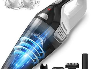Homasy Handheld Vacuum Cordless  8Kpa Hand Vacuum with Powerful Cyclonic Suction  Portable Vacuum Cleaner with long lasting up to 30mins  Wet Dry  3H Charging  for Pet Hair  Dust Gravel Home Cleaning