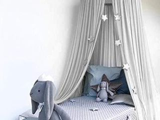 Bed Canopy  Dyna living Dome Tent Room  Height 90 inch  Grey