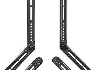 Mounting Dream Soundbar Mount Sound Bar TV Bracket  Fits Most of Sound Bars Up to 22 lbs