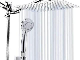 Kaqinu Shower Head   8  Shower Head   Handheld 11a Extension Arm  Chrome