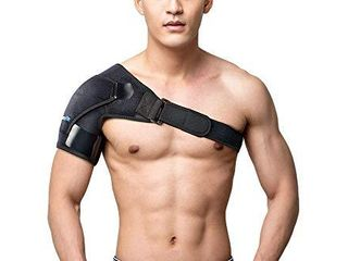 Shoulder Brace   Rotator Cuff Support Brace for Men   Women by BRANFIT  Shoulder Compression Sleeve with Pressure Pad is Ideal for Dislocated AC Joint  labrum Tear   Frozen Shoulder Pain Relief