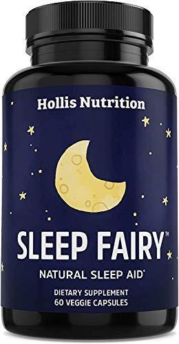 Sleep Fairy Natural Sleep Aid   Non Habit Forming   Herbal Sleeping Pills for Adults w Valerian Root  Chamomile  GABA  l Theanine  Magnesium  Melatonin   Promotes Healthy Sleep Cycle   60 Vegan Caps