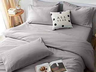 lBRO2M Bed Sheets  Full  Grey