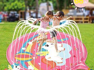 Soopotay Splash Play Mat for Girls   Unicorn  Pink