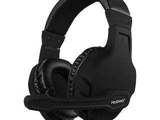 NUBWO U3 3 5mm Gaming Headset for PC  PS4  PS5  laptop  Xbox One  Mac  iPad  Nintendo Switch Games  Computer Game Gamer Over Ear Flexible Microphone Volume Control with Mic   Black