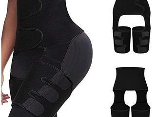 keland 3 in 1 Waist Trainer Thigh Trimmer with Butt lifter for Women Weight loss  Black 2X 3X