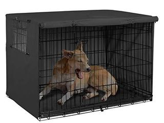 Explore land 24 inches Dog Crate Cover   Durable Polyester Pet Kennel Cover Universal Fit for Wire Dog Crate  Black