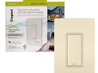 legrand   Pass   Seymour Radiant WWRl10lACCV2 Enabled  light Almond Smart Wi Fi Switch