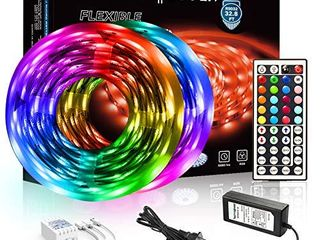 DAYBETTER led Strip lights 32 8ft 5050 RGB lEDs Color Changing lights Strip for Bedroom  Desk  Home Decoration  with Remote and 12V Power Supply NOT FUllY INSPECTED