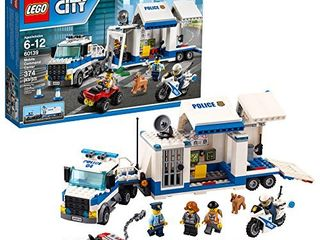 lEGO City Police Mobile Command Center Truck 60139 Building Toy  Action Cop Motorbike and ATV Play Set for Boys and Girls aged 6 to 12  374 Pieces
