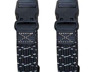 Amazon Basics Adjustable Stretch Straps  Black Reflective w Gray line  18    60  2 Pack