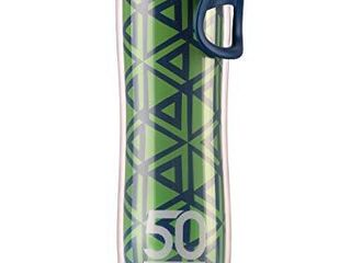 Insulated Bike Water Bottle   24 oz  Sports Bottle W  One Way Valve   Double Walled Plastic Design Keeps Drinks Cold   BPA Free   lightweight   leakproof   Perfect for Hiking  Green Arrows  1 Bottle