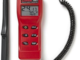 Amprobe THWD 5 Relative Humidity and Temperature Meter with Wet Bulb and Dew Point