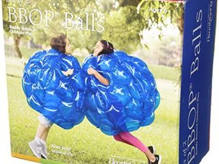 HearthSong Set of Two 36  Blue Inflatable Buddy Bumper Wearable Balls  Holds Up to 200 lbs