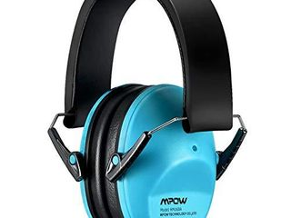 Mpow 068 Kids Ear Protection  NRR 25dB Noise Reduction Ear Muffs  Toddler Ear Protection  Protective Earmuffs for Shooting Range Hunting Season  for Toddlers Kids Children Teens Blue