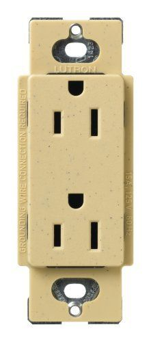 lutron SCR 15 GS Satin Colors 15A Electrical Socket Duplex Receptacle  Goldstone