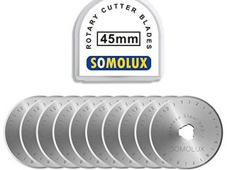 Rotary Cutter Blades 45mm 5 Pack by SOMOlUX Fits OlFA DAFA Truecut Replacement  Quilting Scrapbooking Sewing Arts Crafts Sharp and Durable