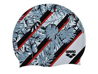 Arena Silicone Unisex Swim Cap for Women and Men  Prints and Solid Colors  Floral