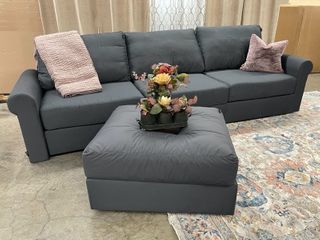 Modular Sectional Sofa with Ottoman