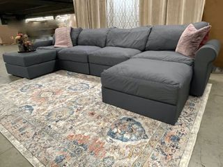 Mega Couch 6 Piece Modular Pit Sectional Sofa