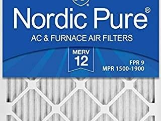 Nordic Pure 20x24x1 MERV 12 Pleated AC Furnace Air Filters 6 Pack