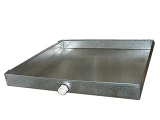 Master Flow 24 in  x 36 in  Drain Pan with PVC Connector   26 Gauge